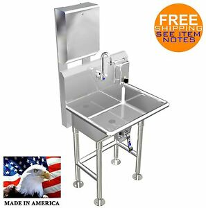 Paper Towel Soap Dispenser W Knee Valve Hand Washing Sink 24 Stainless Steel