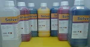 6l Eco Solvent Ink 1l Cleaner Solution Roland Mutoh Mimaki Dx4 Dx5 Usa Ship