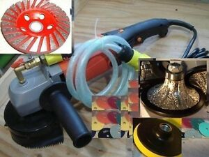 Wet Concrete Sander 3 8 10mm Roundover Bullnose Router Granite Marble Edge Cup