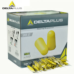 200 Pairs Deltaplus Earplugs Soft Foam Plugs Snore Sleep Ear Plug Noise Snr 37