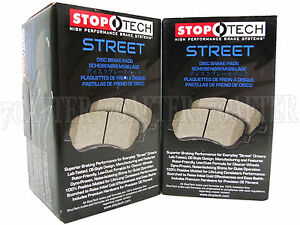 Stoptech Street Brake Pads front Rear Set For 90 96 Nissan 300zx Z32