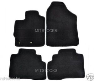 Fit For 2007 2012 Toyota Yaris Sedan 4 Doors Only Black Nylon Carpet Floor Mats