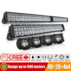 Dual Color 20inch 504w Cree Led Work Light Bar 8 Flash Mode Offroad Driving Lamp