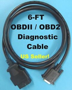 6ft Obd2 Obdii Scanner Main Data Cable For Matco Quickcode Md9000 Code Reader