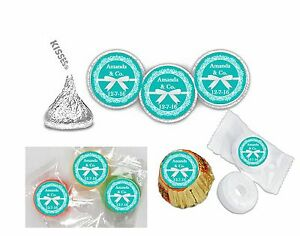 216 Tiffany Inspired Hershey Kiss Labels Favors Stickers Personalized