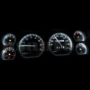 New Dash Instrument Cluster Gauge White Led Light Kit Fit 84 96 Jeep Cherokee Xj