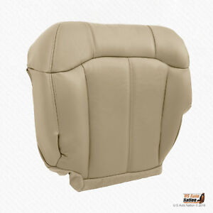 1999 2000 2001 2002 Chevy Tahoe Suburban Driver Bottom Vinyl Seat Cover Tan