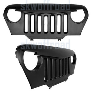 Matte Black Angry Bird Overlay Grill Grille For Jeep Wrangler Tj 1997 2006 97 06