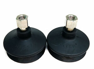 Pair Of Anver B 1 5 78 Nbr Bellows Vac Suction Cups W group 3 Fitting F To F 7a3