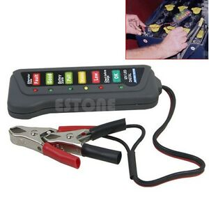 High Quality Led Digital Battery Alternator Tester For Car Motorcycle Trucks 12v