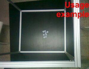 Aluminum T slot Extruded Profile 20x20 6 Table Or Box Frame Size 640x640x640mm