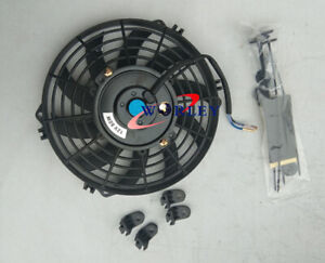 12 Inch 12v Slim Fan Push Pull Electric Radiator Cooling Mount Kit Universal