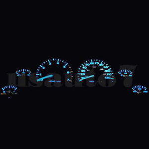 Dash Cluster Gauge Aqua Blue Led Lights Kit Fits 99 01 Jeep Grand Cherokee Wj Bl