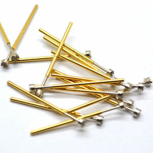 300pcs lot P100 h6 Dia 3 0mm Spring Test Probes Pogo Pin Length 33 35mm 180g