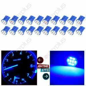 20x Blue T10 194 8smd Led Instrument Gauge Panel Dash Led Light Bulbs For Ford