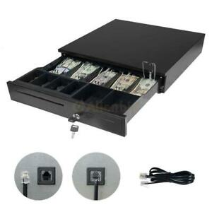 Cash Register Box Drawer Key Lock 5bill 5coin Epson star Pos Printers Compatible