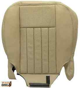 2005 2006 Lincoln Navigator Driver Bottom Perforated Leather Seat Cover Tan