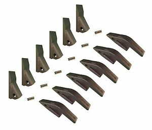 6 Mini Excavator Backhoe Skidsteer Weld On Shanks 23hd Fab Teeth W Pins