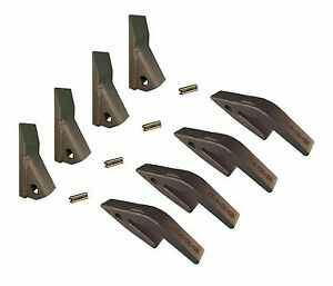 4 Mini Excavator Backhoe Skidsteer Weld On Shanks 23hd Fab Teeth W Pins