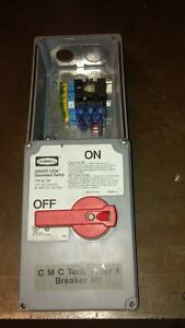 Hubbell Circuit lock Disconnect Switch 30 Amp 600vac Type 4x 12k