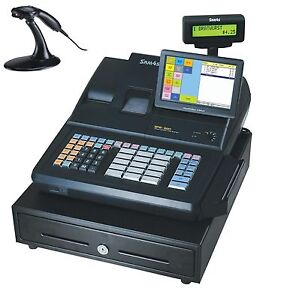 Sam4s Sps 520rt Hybrid Electronic Cash Register With Touch Screen And Metrologic