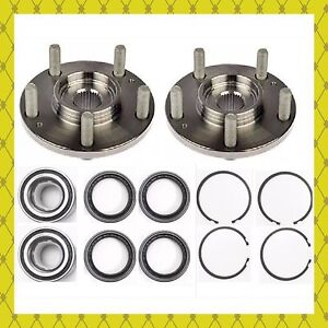 Front Wheel Hub Bearing Kits W Snap Ring For 1995 1999 Nissan Maxima Pair