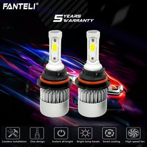 120w 12000lm Led Headlight Kit 9007 Hb5 Hi Low Beam Bulbs White 6000k High Power