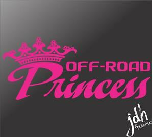 Offroad Princess Vinyl Decal Car Sticker Mud Pink Girl Diesel Country Fits Jeep