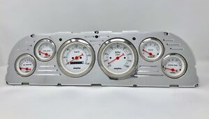 1960 1961 1962 1963 Chevy Truck 6 Gauge Dash Cluster Metric White