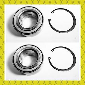 Front Wheel Hub Bearing W snap Kits For Ford C max Escape Focus Pair