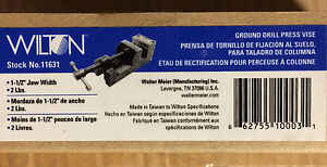 Wilton 11631 1 1 2 inch Ground Drill Press Vise