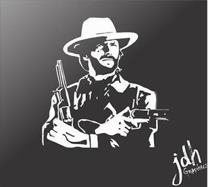 Dirty Hairy Vinyl Decal Car Sticker Funny Gun Western Country Eastwood Outlaw
