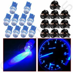10x Blue Led T10 194 Cluster Gauge Dash Light Bulb Twist Lock Socket For Ford