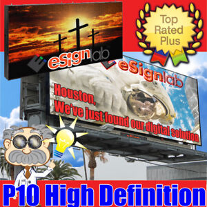 Led Sign Billboard Style Full Color P10 Programmable Outdoor Display 36 X 72