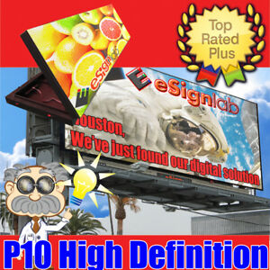 Led Sign Billboard Style Full Color P10 Programable Outdoor Screen 3 1ft X 9 3ft