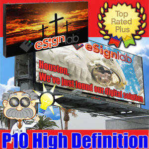 Led Sign Billboard Style Full Color P10 Programable Outdoor Screen 3ft X 12 4ft