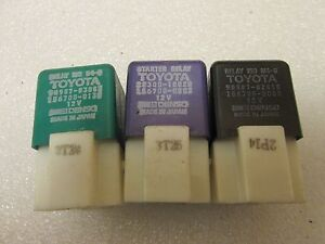 Lot Of 3 Toyota Denso Oem Relay 90987 02010 28300 10020 90987 03003
