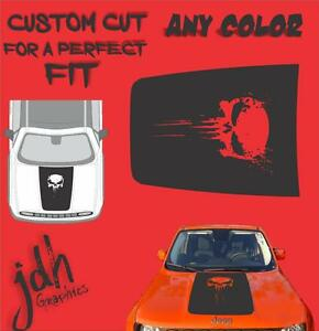 2015 2016 Fits Jeep Renegade Punisher Blood Stripe Hood Decal Sticker Graphic