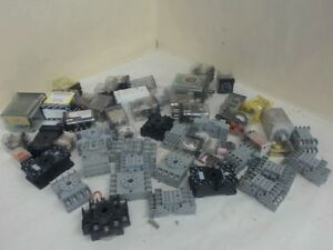 Lot Of 31 Ice Cube Relays 20 Each Relay Bases Various Mfg Various Voltages