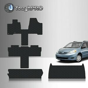 Toughpro Black Rubber Heavy Duty Custom Floor Mats For 2004 2010 Sienna 7 Seater