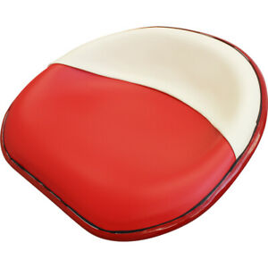 Amihhms Seat Red And White Vinyl For International Farmall H M Tractors