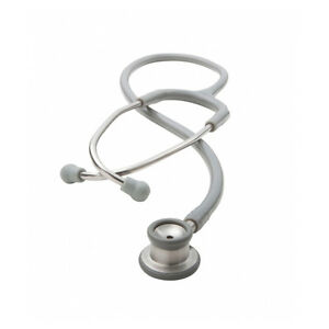 Adc 605g Adscope Stethoscope Grey With Combination Infant Chestpiece Id Tag