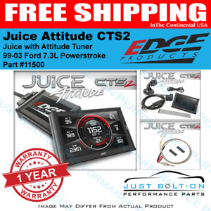 Edge Juice W Attitude Cts2 Tuner 1999 2003 Ford F250 F350 7 3l Excursion 11500