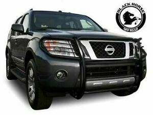 Black Horse Fits 2005 2007 Nissan Pathfinder Grille Brush Guard 17a110200ma