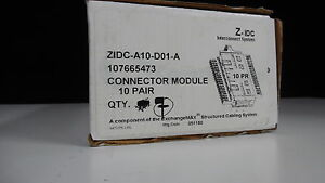 Lot Of 7 Commscope Z idc a10 d01 a Connector Module new