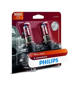2x Philips 9005 Hb3 X Tremevision Upgrade 100 Extra More Bright Light Bulb 65w