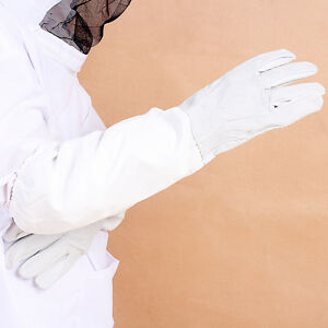 Beekeeping Protective Gloves Sheep Leather Vented Long Sleeve
