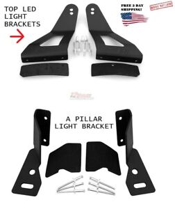 50 Inch Led Curved Light Mount Brackets For Nissan Titan 2004 2015 4wd 2wd Nt