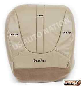 1999 Ford Expedition Eddie Bauer 5 4l V8 Driver Bottom Leather Seat Cover Tan