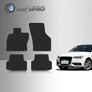Toughpro Heavy Duty Black Rubber Custom Fit For 2015 2019 Audi A3 S3 Floor Mats